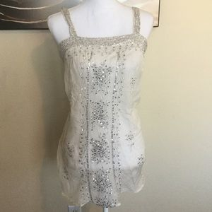 NWT Gorgeous sequin sheer top